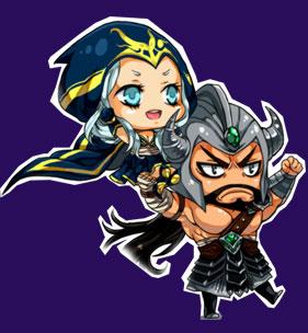 lol蛮王和艾希h图片下载 lol女英雄艾希h福利 lol英雄蛮王和艾希